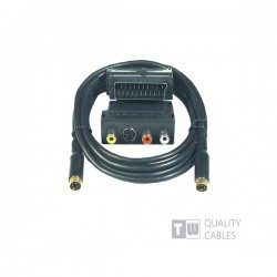 Scart Adaptor 5m + S-Video Cable